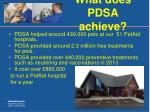 what does pdsa achieve