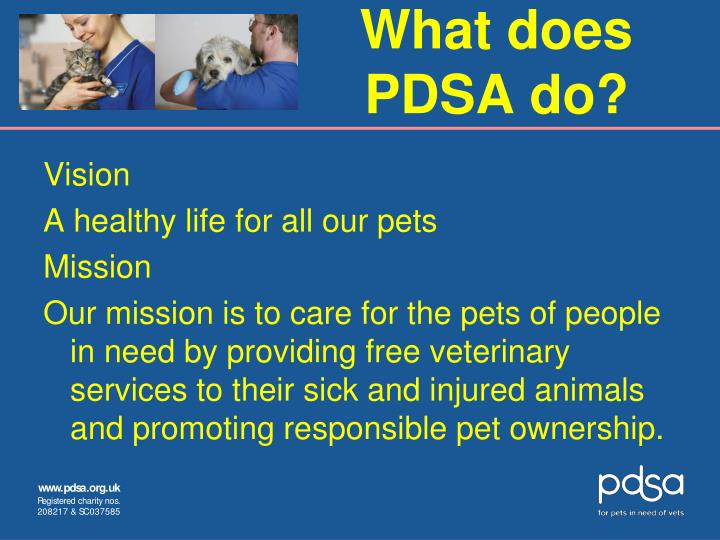 What does PDSA do?