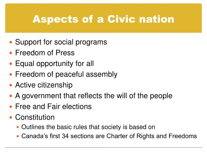 Aspects of a Civic nation