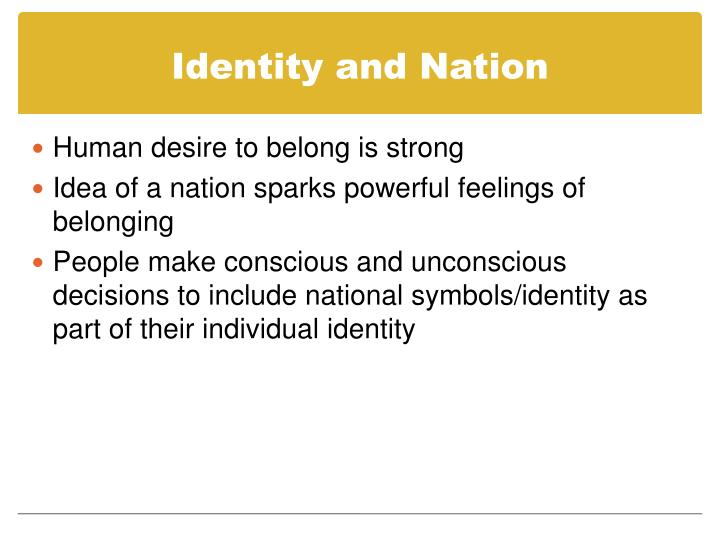 Identity and Nation