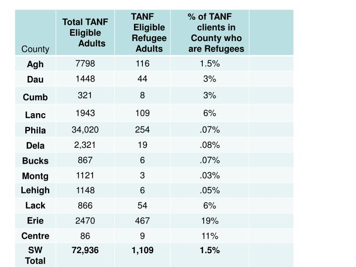 TANF Eligible Adults