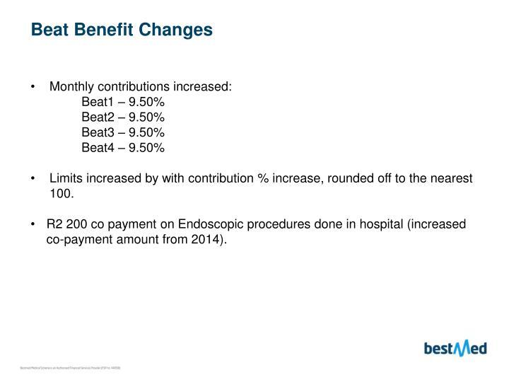 Beat Benefit Changes