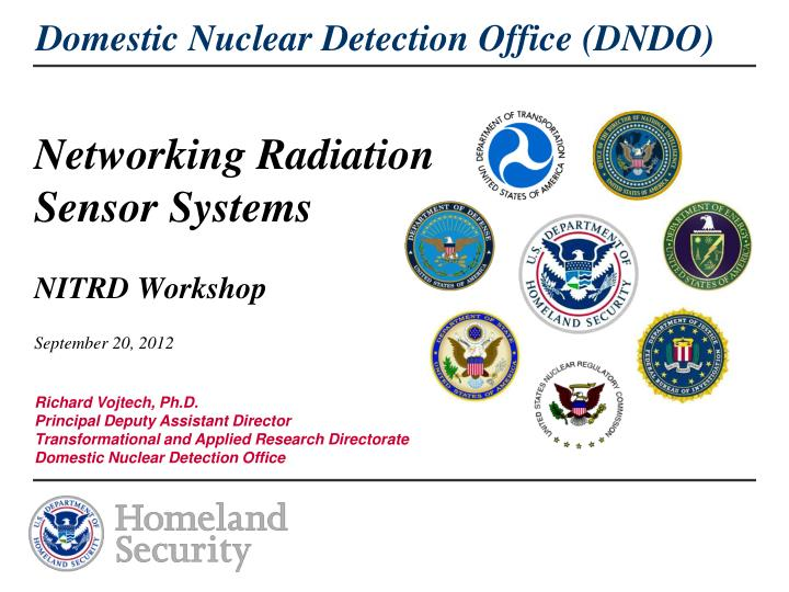 Networking radiation sensor systems nitrd workshop september 20 2012