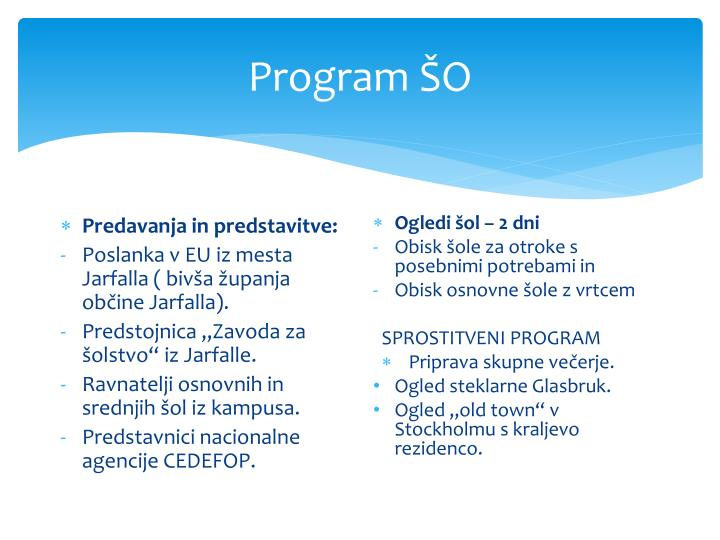 Program ŠO