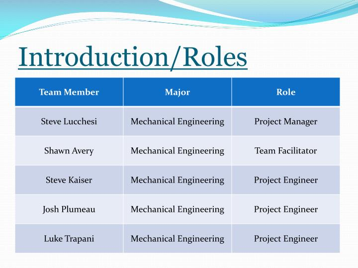 Introduction roles