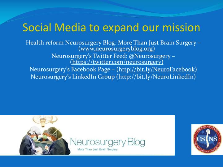 Social Media to expand our mission