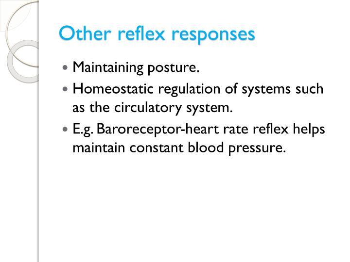 Other reflex responses