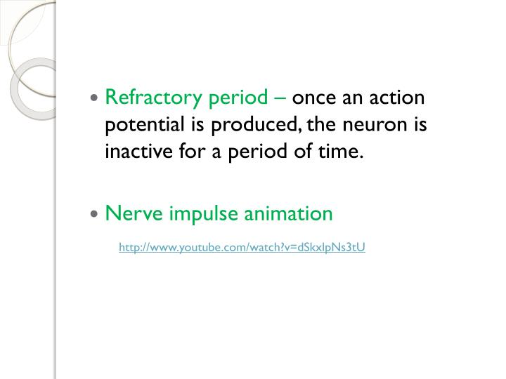 Refractory period –