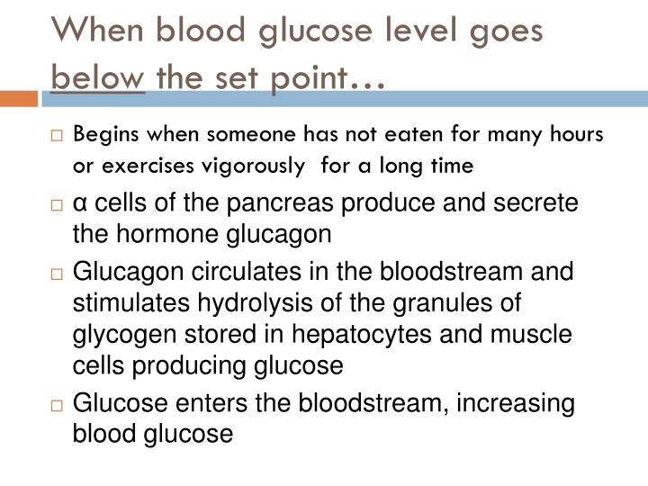 When blood glucose level goes