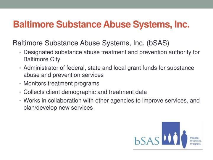 Baltimore Substance Abuse Systems, Inc.