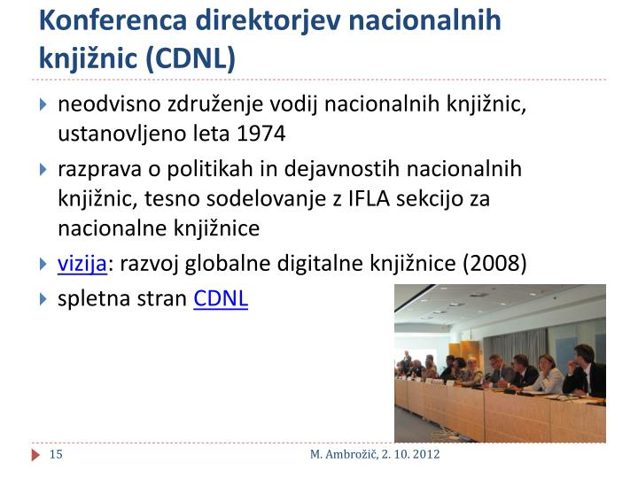 Konferenca direktorjev nacionalnih knjižnic (CDNL)
