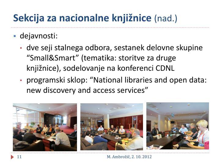 Sekcija za nacionalne knjižnice