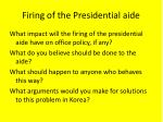 firing of the presidential aide