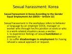 sexual harassment korea