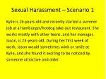 sexual harassment scenario 1
