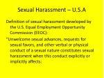 sexual harassment u s a
