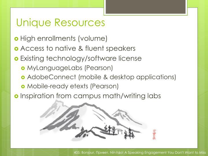 Unique Resources