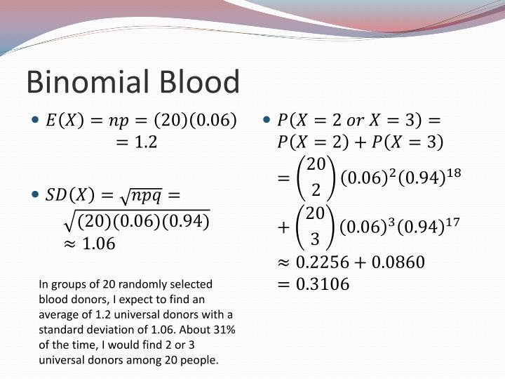 Binomial Blood