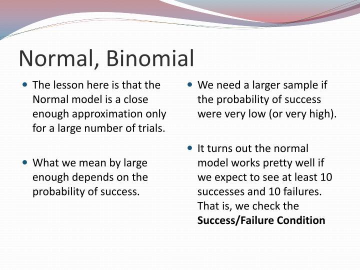 Normal, Binomial