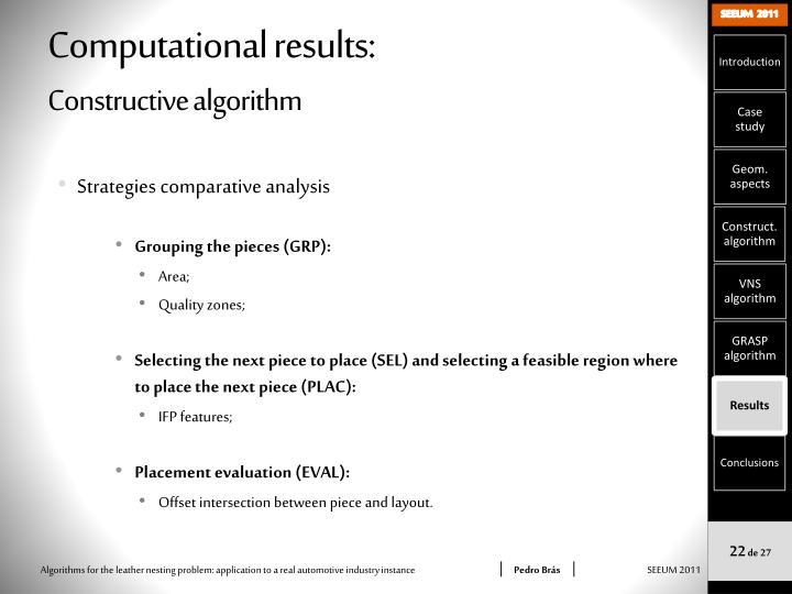 Computational results: