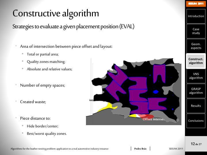 Constructive algorithm