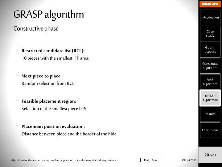 GRASP algorithm