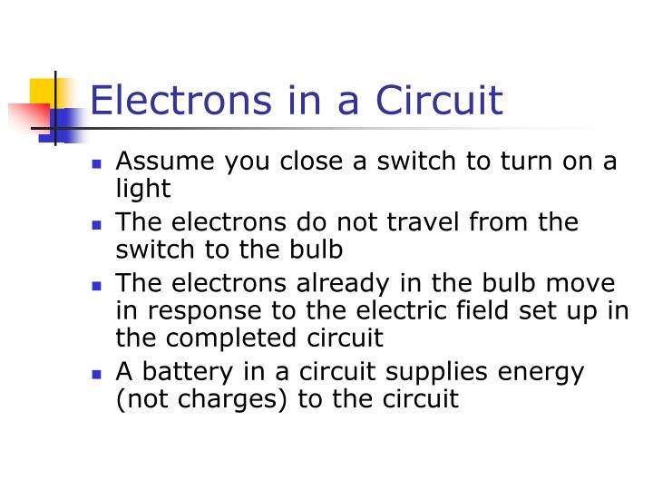 Electrons in a Circuit