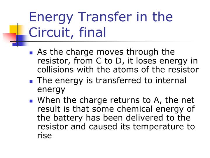 Energy Transfer in the Circuit, final