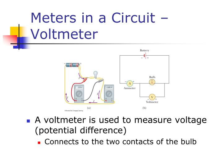 Meters in a Circuit – Voltmeter