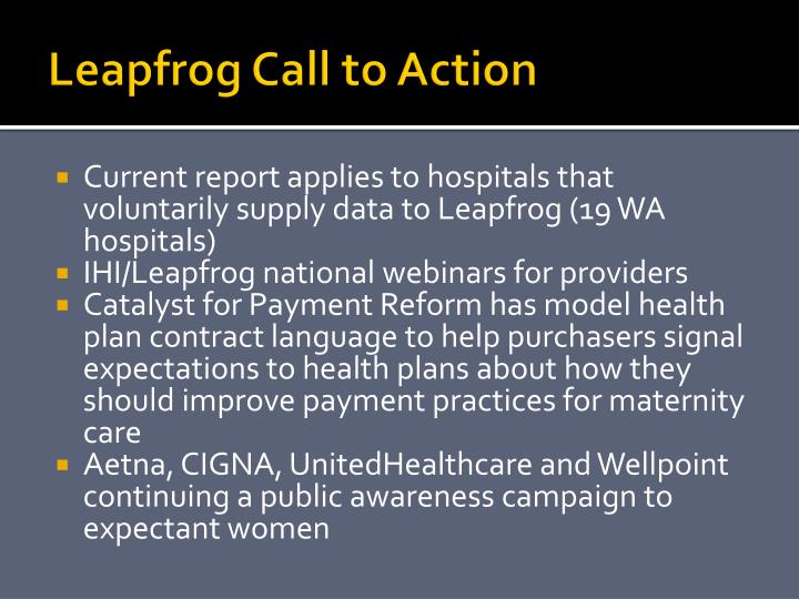 Leapfrog Call to Action