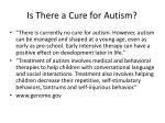 is there a cure for autism