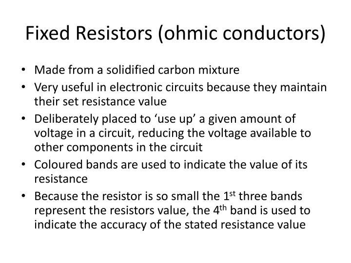 Fixed Resistors (