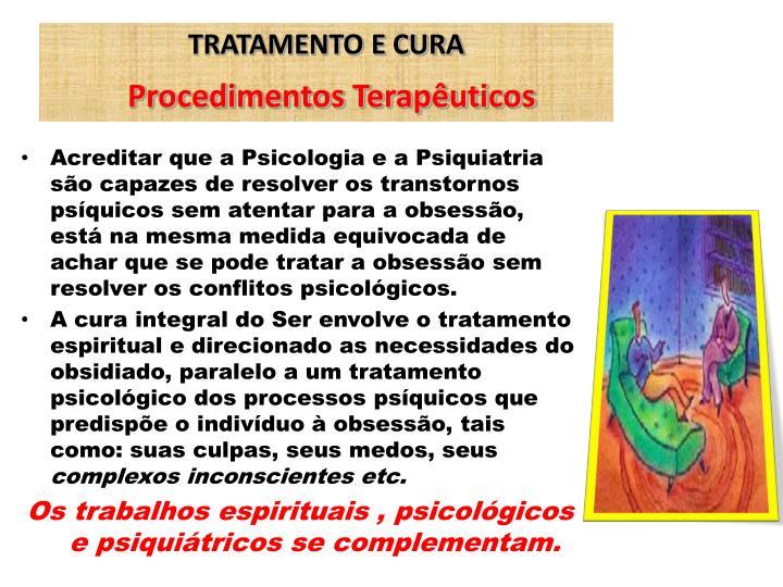 TRATAMENTO E CURA