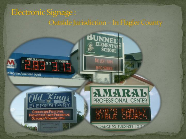 Electronic Signage :