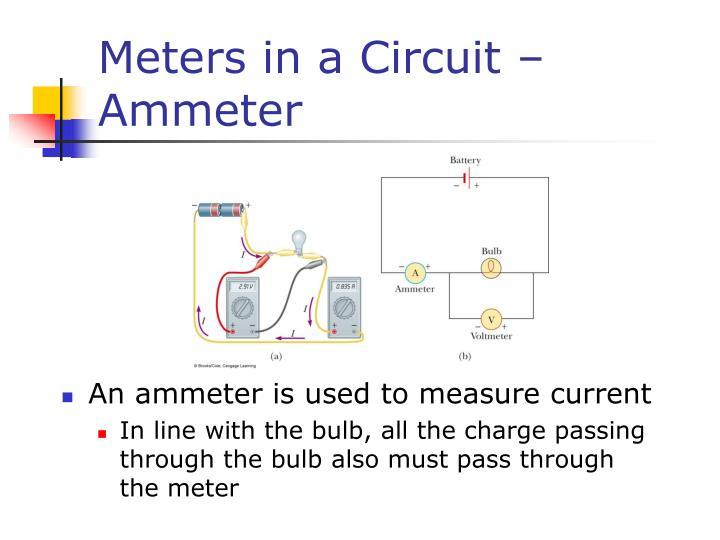 Meters in a Circuit – Ammeter