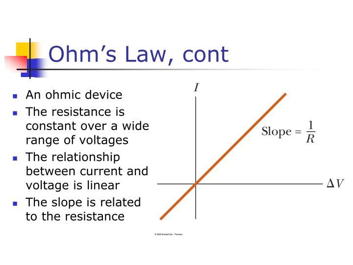 Ohm's Law, cont