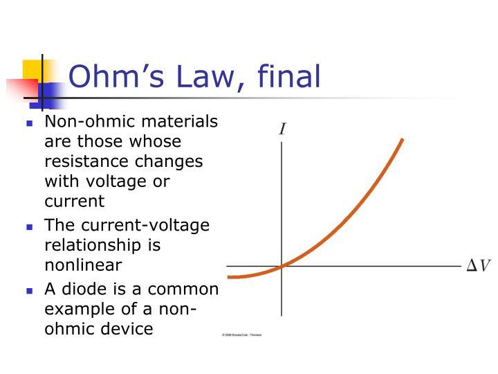 Ohm's Law, final