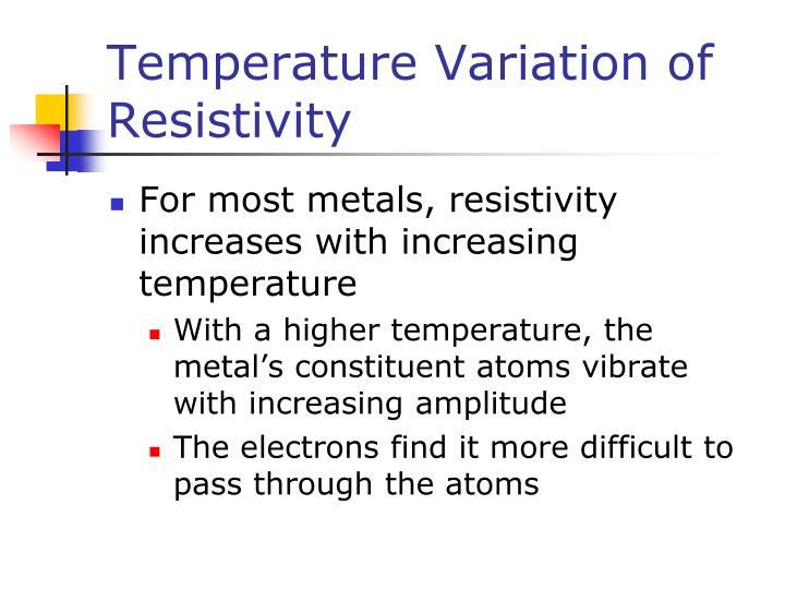 Temperature Variation of Resistivity