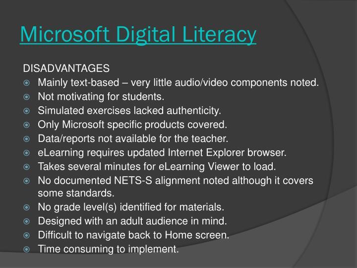 Microsoft Digital Literacy