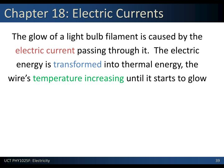 Chapter 18: Electric Currents