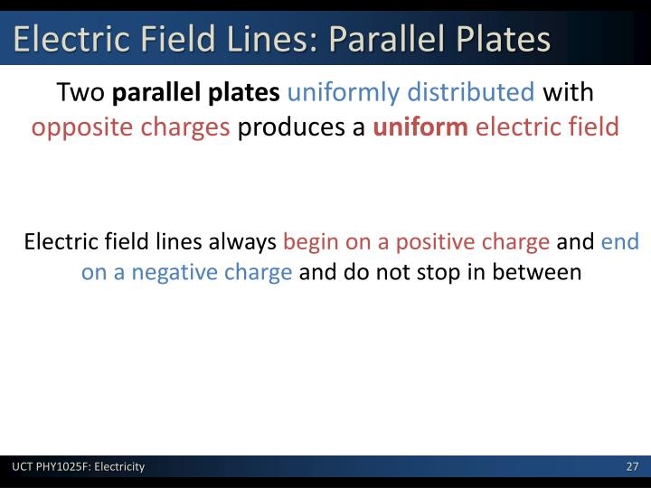 Electric Field Lines: Parallel Plates