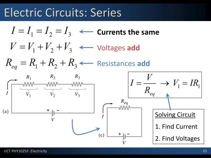 Electric Circuits: Series