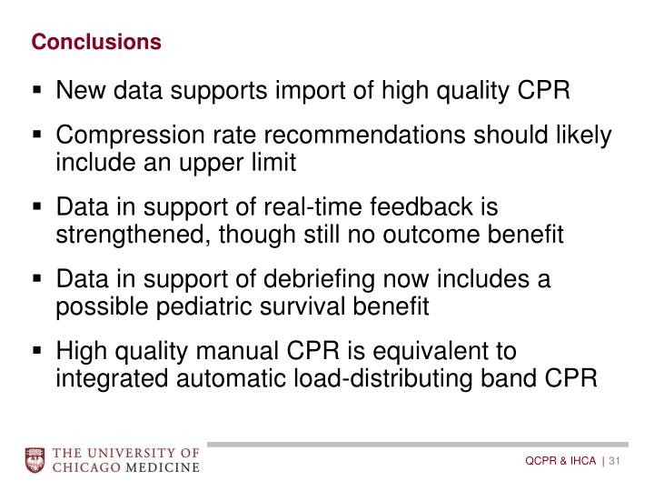 New data supports import of high quality CPR
