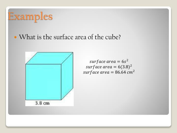 What is the surface area of the cube?