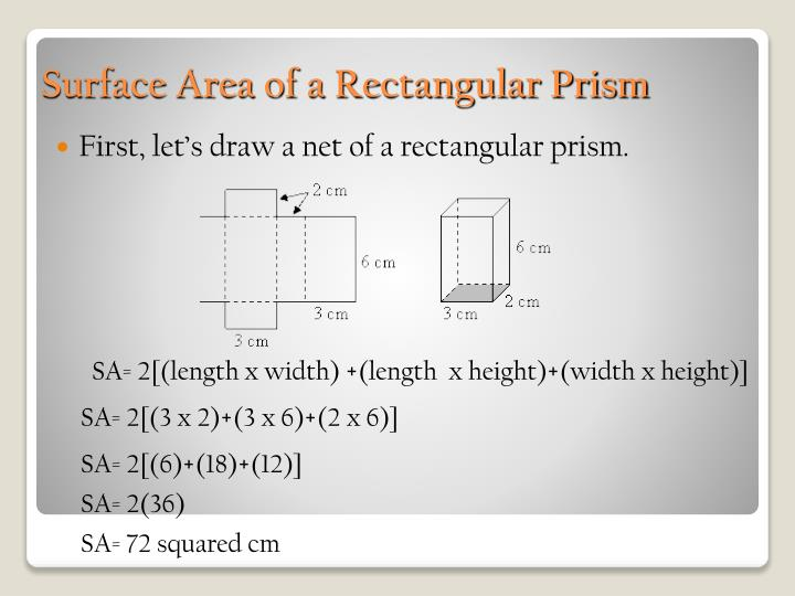 First, let's draw a net of a rectangular prism.