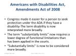 americans with disabilities act amendments act of 20081