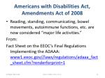 americans with disabilities act amendments act of 20083