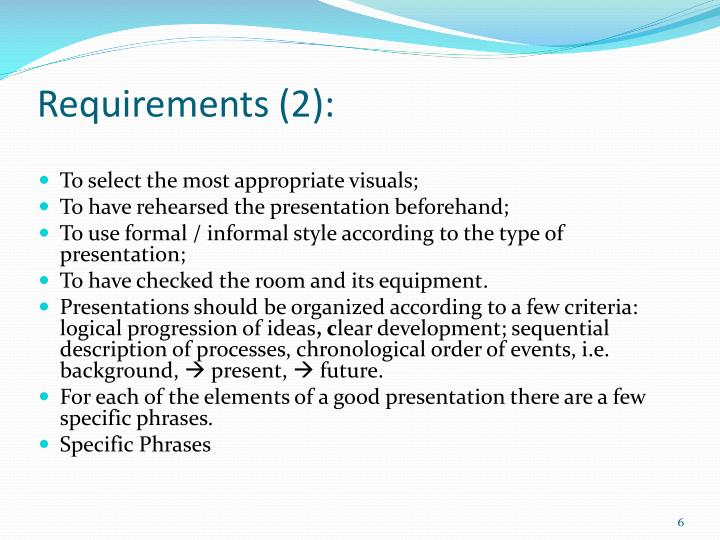 Requirements (2):