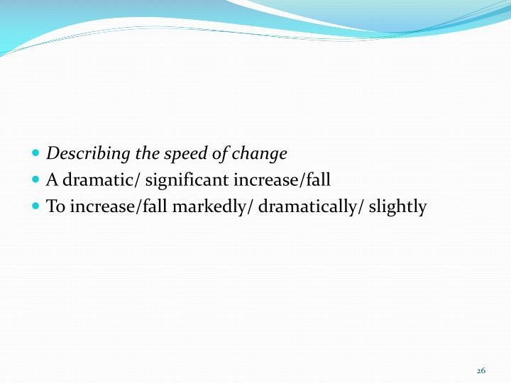 Describing the speed of change
