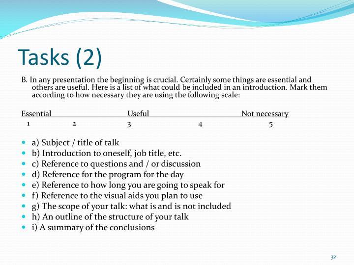 Tasks (2)